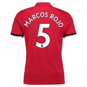 Manchester United Home Shirt 2017-18 – Kids with Marcos Rojo 5 printin