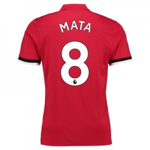 Manchester United Home Shirt 2017-18 – Kids with Mata 8 printing