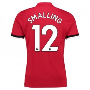 Manchester United Home Shirt 2017-18 – Kids with Smalling 12 printing