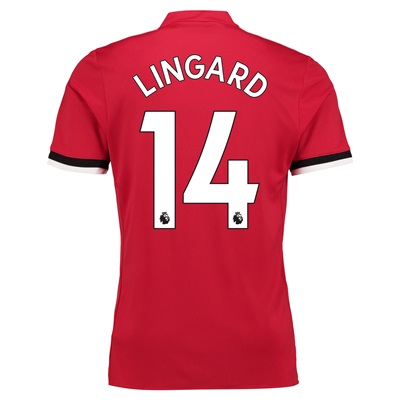 Manchester United Home Shirt 2017-18 – Kids with Lingard 14 printing
