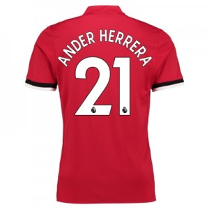 Manchester United Home Shirt 2017-18 – Kids with Ander Herrera 21 prin