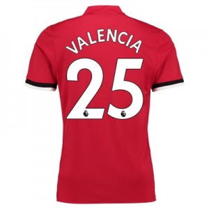 Manchester United Home Shirt 2017-18 – Kids with Valencia 25 printing