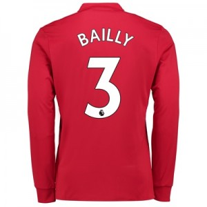 Manchester United Home Shirt 2017-18 – Kids – Long Sleeve with Bailly