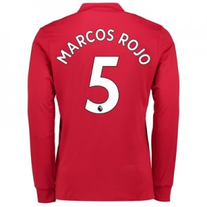 Manchester United Home Shirt 2017-18 – Kids – Long Sleeve with Marcos