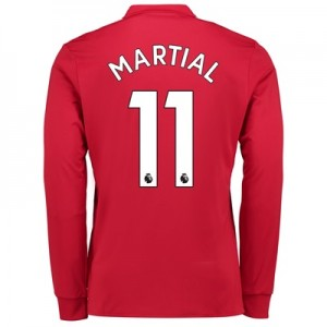 Manchester United Home Shirt 2017-18 – Kids – Long Sleeve with Martial