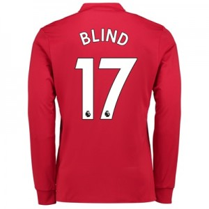 Manchester United Home Shirt 2017-18 – Kids – Long Sleeve with Blind 1