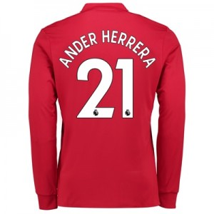 Manchester United Home Shirt 2017-18 – Kids – Long Sleeve with Ander H