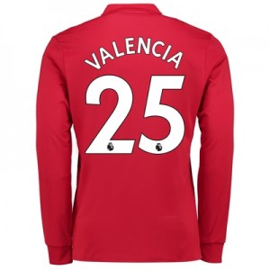 Manchester United Home Shirt 2017-18 – Kids – Long Sleeve with Valenci