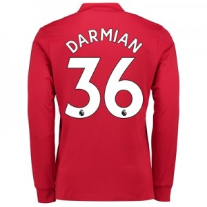 Manchester United Home Shirt 2017-18 – Kids – Long Sleeve with Darmian