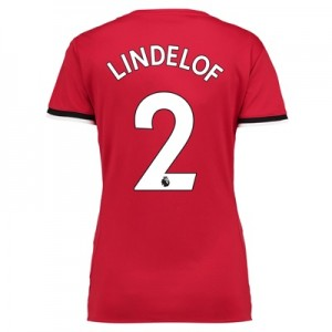 Manchester United Home Shirt 2017-18 – Womens with Lindelof 2 printing