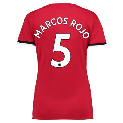Manchester United Home Shirt 2017-18 – Womens with Marcos Rojo 5 print
