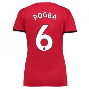 Manchester United Home Shirt 2017-18 – Womens with Pogba 6 printing
