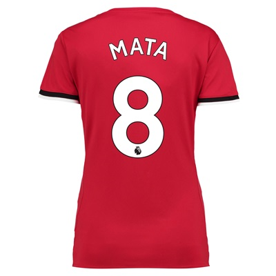 Manchester United Home Shirt 2017-18 – Womens with Mata 8 printing