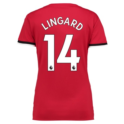 Manchester United Home Shirt 2017-18 – Womens with Lingard 14 printing