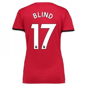 Manchester United Home Shirt 2017-18 – Womens with Blind 17 printing