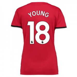 Manchester United Home Shirt 2017-18 – Womens with Young 18 printing