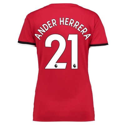 Manchester United Home Shirt 2017-18 – Womens with Ander Herrera 21 pr