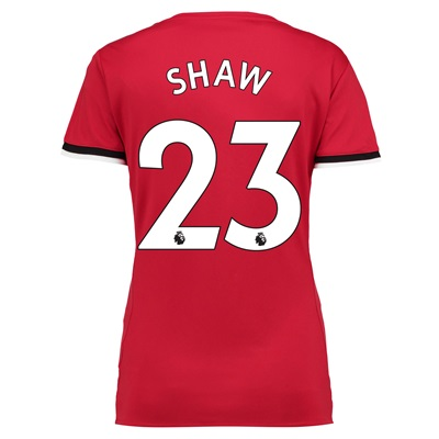 Manchester United Home Shirt 2017-18 – Womens with Shaw 23 printing