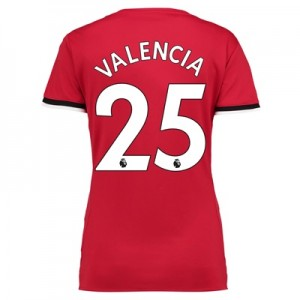 Manchester United Home Shirt 2017-18 – Womens with Valencia 25 printin
