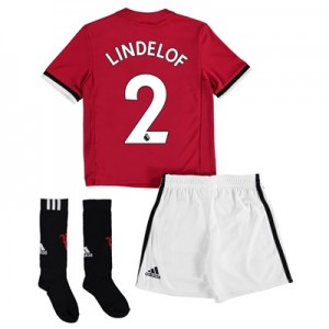 Manchester United Home Mini Kit 2017-18 with Lindelof 2 printing