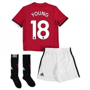Manchester United Home Mini Kit 2017-18 with Young 18 printing