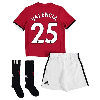 Manchester United Home Mini Kit 2017-18 with Valencia 25 printing
