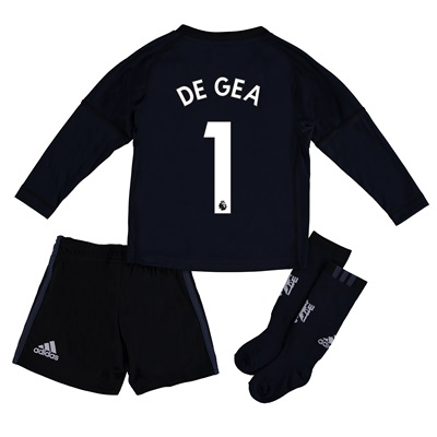 Manchester United Home Goalkeeper Mini Kit 2017-18 with De Gea 1 print