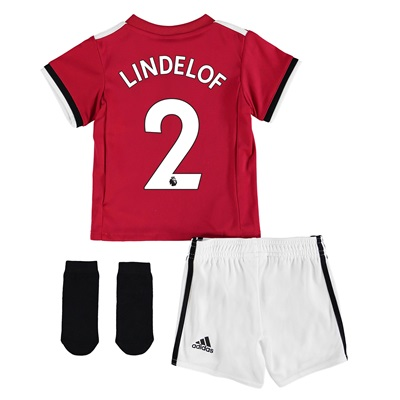 Manchester United Home Baby Kit 2017-18 with Lindelof 2 printing