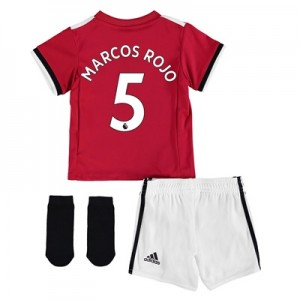 Manchester United Home Baby Kit 2017-18 with Marcos Rojo 5 printing