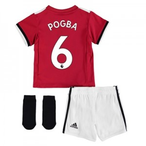 Manchester United Home Baby Kit 2017-18 with Pogba 6 printing