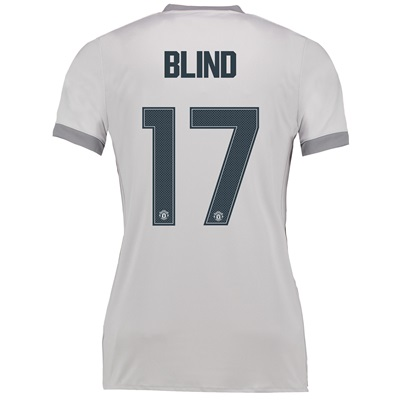 Manchester United Third Cup Shirt 2017-18 – Womens with Blind 17 print
