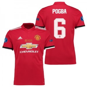 Manchester United Super Cup Final Home Shirt 2017-18 – Kids with Pogba