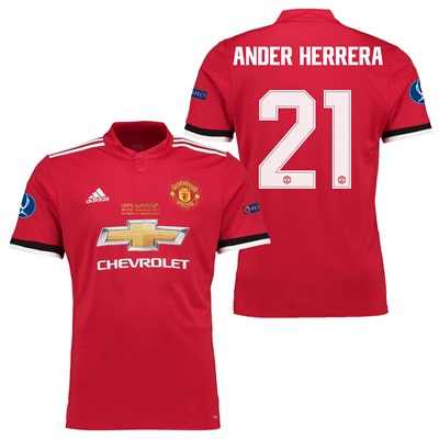 Manchester United Super Cup Final Home Shirt 2017-18 – Kids with Ander