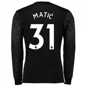 Manchester United Away Shirt 2017-18 – Long Sleeve with Matic 31 print