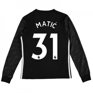 Manchester United Away Shirt 2017-18 – Kids – Long Sleeve with Matic 3