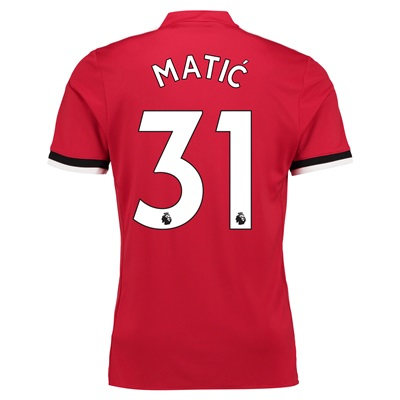 Manchester United Home Shirt 2017-18 with Matic 31 printing