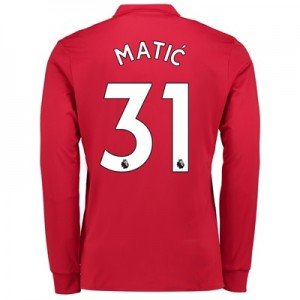 Manchester United Home Shirt 2017-18 – Long Sleeve with Matic 31 print