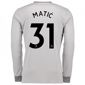 Manchester United Third Shirt 2017-18 – Kids – Long Sleeve with Matic