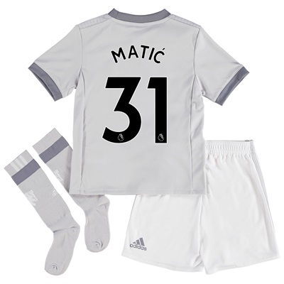 Manchester United Third Mini Kit 2017-18 with Matic 31 printing