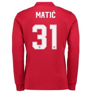 Manchester United Home Cup Shirt 2017-18 – Long Sleeve with Matic 31 p