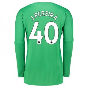 Manchester United Away Goalkeeper Shirt 2017-18 with J.Pereira 40 prin