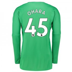 Manchester United Away Goalkeeper Shirt 2017-18 with O'Hara 45 printin