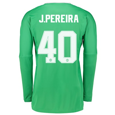 Manchester United Away Goalkeeper Cup Shirt 2017-18 with J.Pereira 40