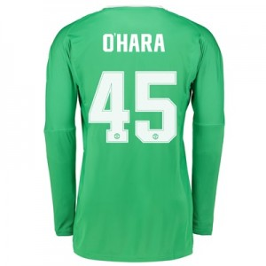 Manchester United Away Goalkeeper Cup Shirt 2017-18 with O'Hara 45 pri