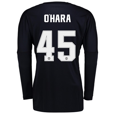 Manchester United Home Goalkeeper Cup Shirt 2017-18 with O'Hara 45 pri
