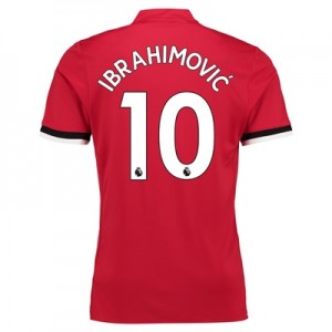 Manchester United Home Shirt 2017-18 with Ibrahimovic 10 printing