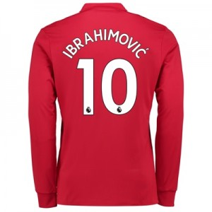 Manchester United Home Shirt 2017-18 – Long Sleeve with Ibrahimovic 10