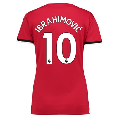 Manchester United Home Shirt 2017-18 – Womens with Ibrahimovic 10 prin