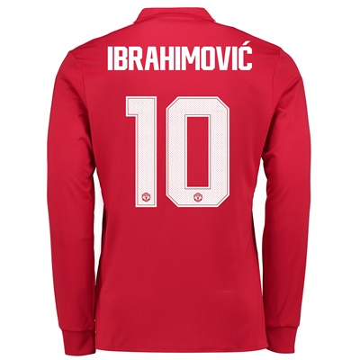 Manchester United Home Cup Shirt 2017-18 – Kids – Long Sleeve with Ibr
