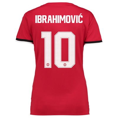 Manchester United Home Cup Shirt 2017-18 – Womens with Ibrahimovic 10